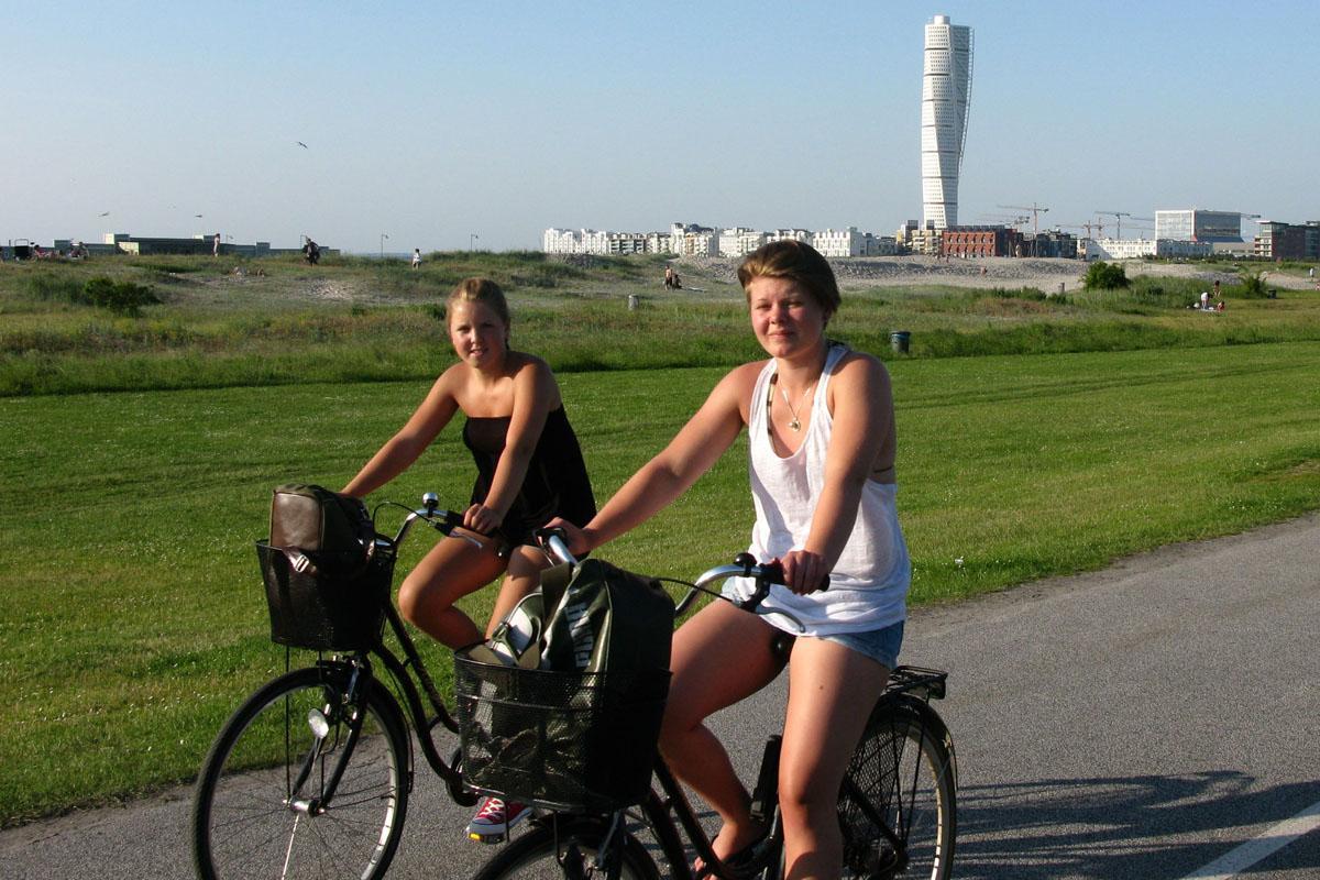 Biking in Malmö