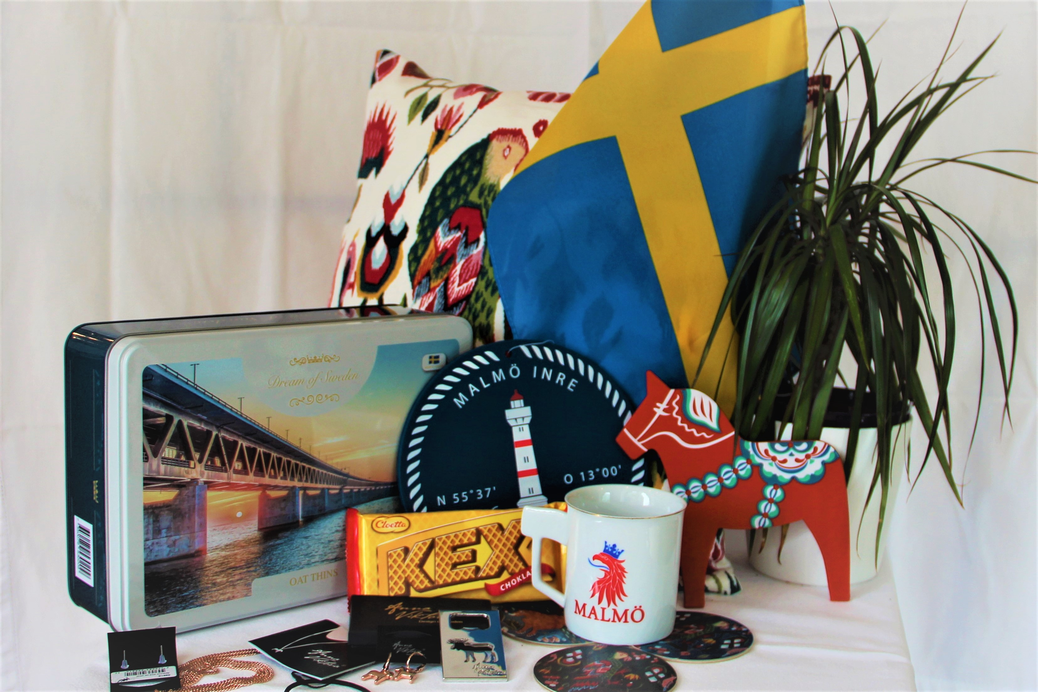 Swedish products possible to buy on a day trip to Malmö.