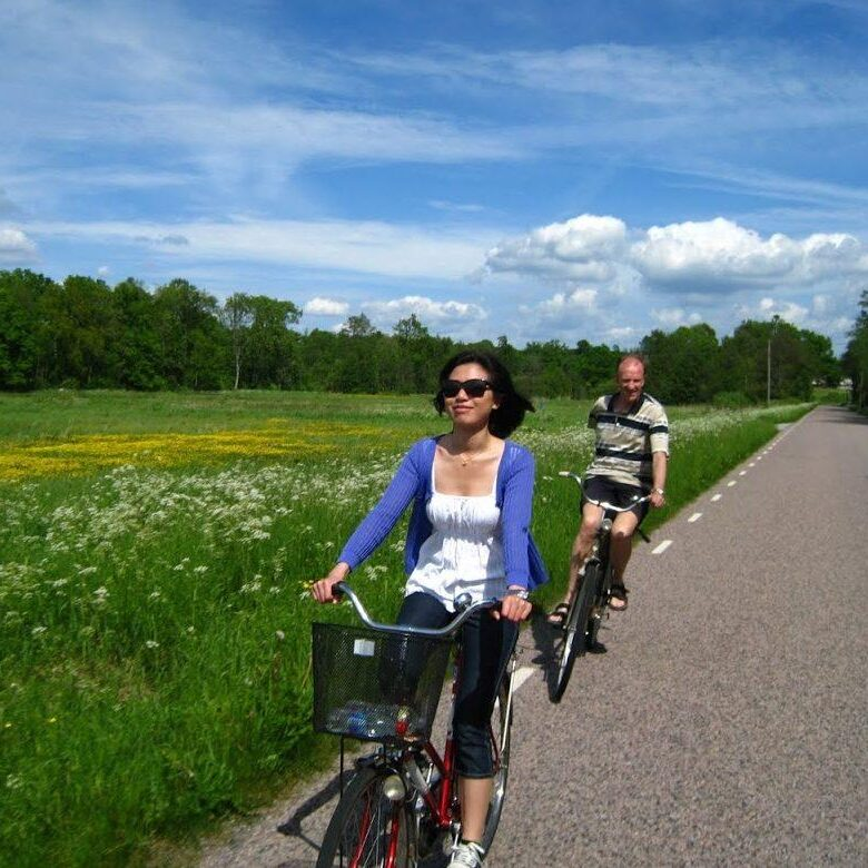 Countryside Biking on a private day trip to Sweden