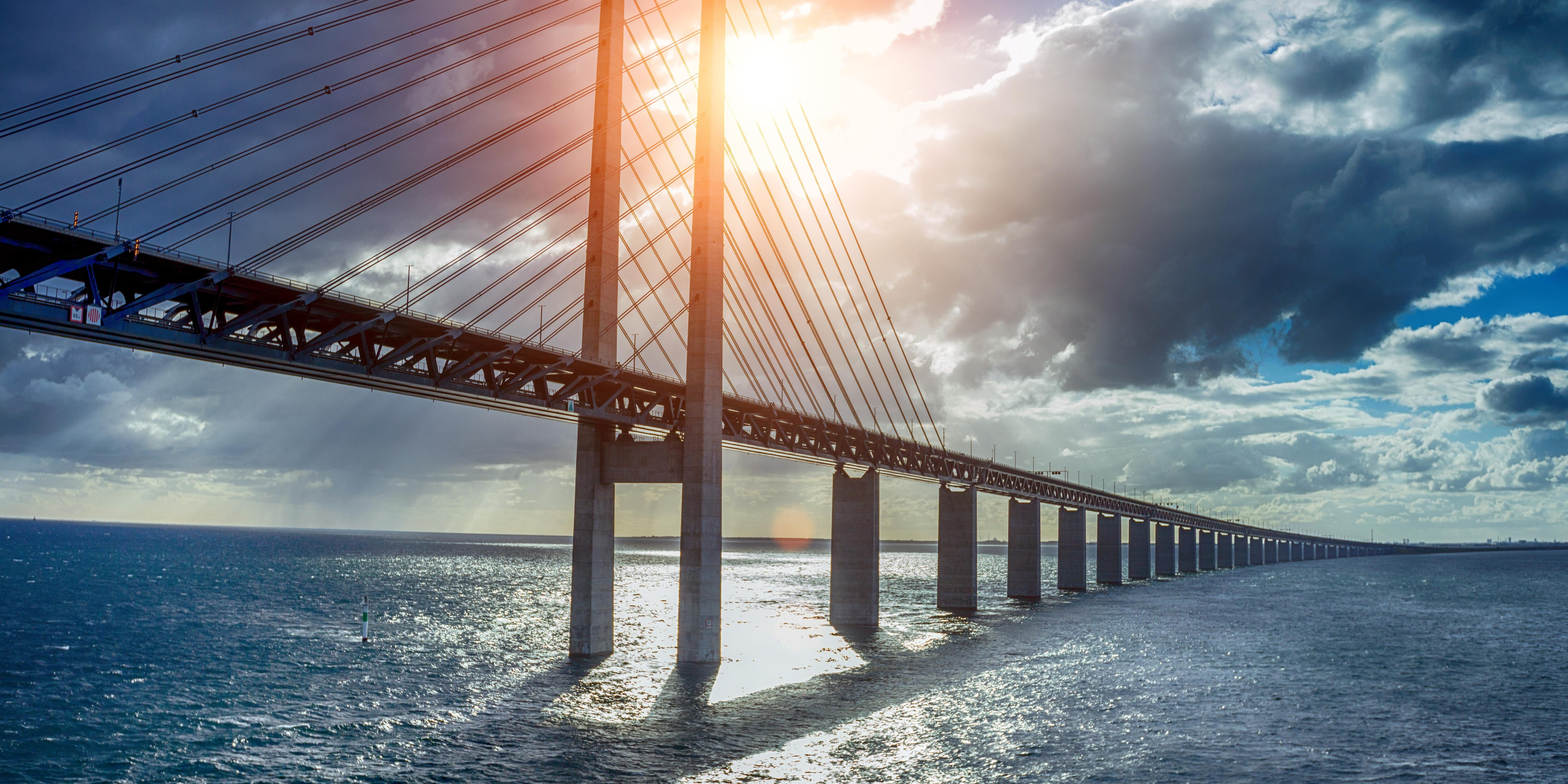 The Oresund Bridge is crossed on any day trip to Sweden
